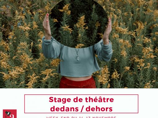 Stage «Dedans/dehors»: 15-17 novembre