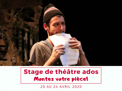 Stage ado – 20 au 24 avril