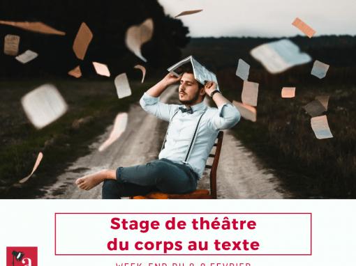 Stage «Du corps au texte»: 7-9 février