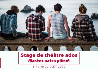 Stage ado – 6 au 10 juillet