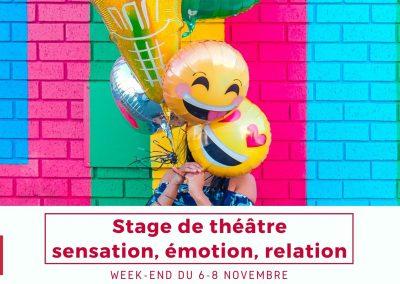 Stage «Sensation, émotion, relation»: 6-8 novembre